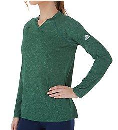 Adidas Climalite Long Sleeve V-Neck T-Shirt 3872