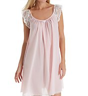 Amanda Rich Lace Cap Sleeve Knee Length Nightgown 106B