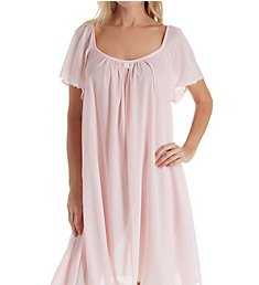 Amanda Rich Short Sleeve Knee Length Nightgown 146B