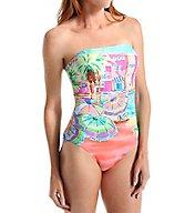 Anne Cole Ocean Beach Bandeau One Piece Swimsuit 16MO013