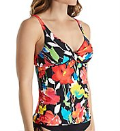 Anne Cole Growing Floral Plunge Underwire Tankini Swim Top 17MT218