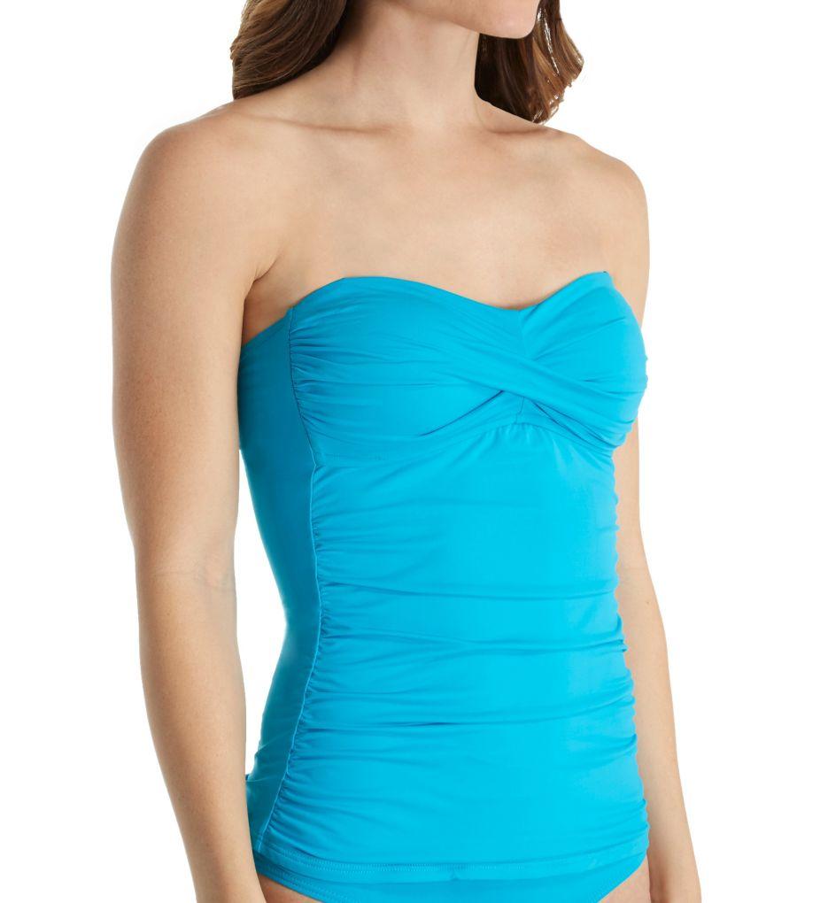 Anne Cole Live in Color Bandini Tankini Swim Top 17MT251