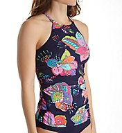 Anne Cole Cactus Floral High Neck Tankini Swim Top 17MT262