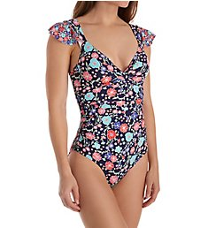 Anne Cole Lazy Daisy Flounce Underwire One Piece Swimsuit 18Mo075