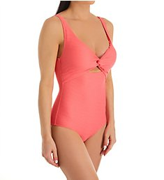 Anne Cole Dream Weaver Twist Front Scoop One Piece Swimsuit 20MO06D