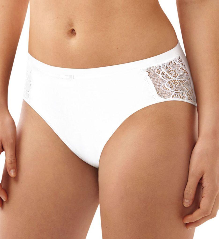 Bali Cotton Desire Microfiber Hi-Cut Brief Panty CD62