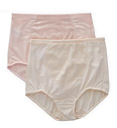 Bali Jacquard Tummy Panel Shaping Brief Panty - 2 Pack X710