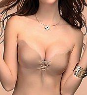 Braza Cleavage Pal Sexy Lace Up Adhesive Bra 3508