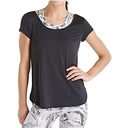 Calvin Klein Performance Open Strappy Back Short Sleeve Tee P7T2610