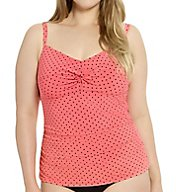 Christina Coral Cascade Plus D-Cup Twist Tankini Swim Top CC50X7D