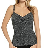 Christina Fresco Tiles D-Cup Twist Tankini Swim Top FT5187D
