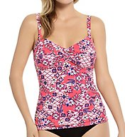 Christina Red Serenade D-Cup Twist Tankini Swim Top RS5087D