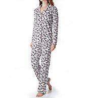 Cosabella Bella Print Long Sleeve Top and Pant PJ Set AMR9641