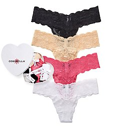 Cosabella Box of Love Never Say Never Thong - 4 Pack NSN0403