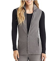 Cuddl Duds Fleecewear with Stretch Full Zip Vest 8119665