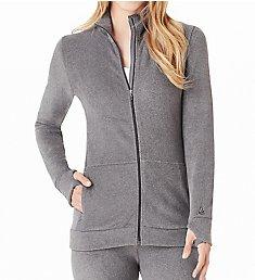 Cuddl Duds Fleecewear with Stretch Long Sleeve Zip-up 8319665
