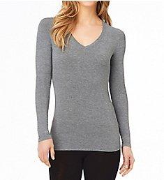 Cuddl Duds Softwear with Stretch Long Sleeve V-Neck Shirt 8919616