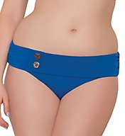 Curvy Kate Luau Love Mini Fold Over Swim Bottom CS1925