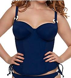 Curvy Kate Smooth Sailing Padded Balcony Tankini Swim Top CS2616