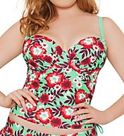 Curvy Kate Aloha Padded Balcony Tankini Swim Top CS3016