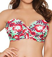 Curvy Kate Aloha Bandeau Bikini Swim Top CS3041