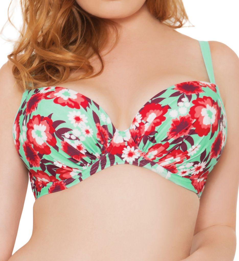 Curvy Kate Aloha Padded Plunge Bikini Swim Top CS3051
