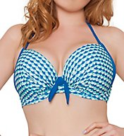 Curvy Kate Atlantis Halterneck Plunge Bikini Swim Top CS3151