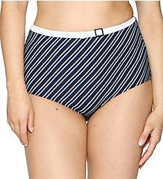 Curvy Kate Sailor Girl High Waist Brief Swim Bottom CS3505