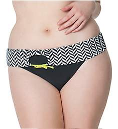 Curvy Kate Hypnotic Fold Over Brief Swim Bottom CS3625