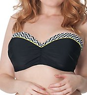 Curvy Kate Hypnotic Bandeau Bikini Swim Top CS3641