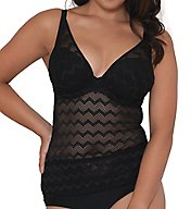 Curvy Kate Hi Voltage Plunge Tankini Swim Top CS4156