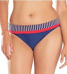 Curvy Kate Ahoy Fold Over Brief Swim Bottom CS4725