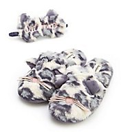 Dearfoams Cat Nap Slipper & Eye Mask Set 30572CN