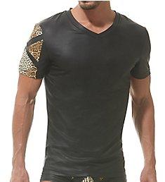 Gregg Homme Captive Faux Leather Leopard T-Shirt 162307