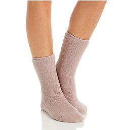 H Halston Ultra Soft Lounge Sock with Non Skid Grippers HTFS832