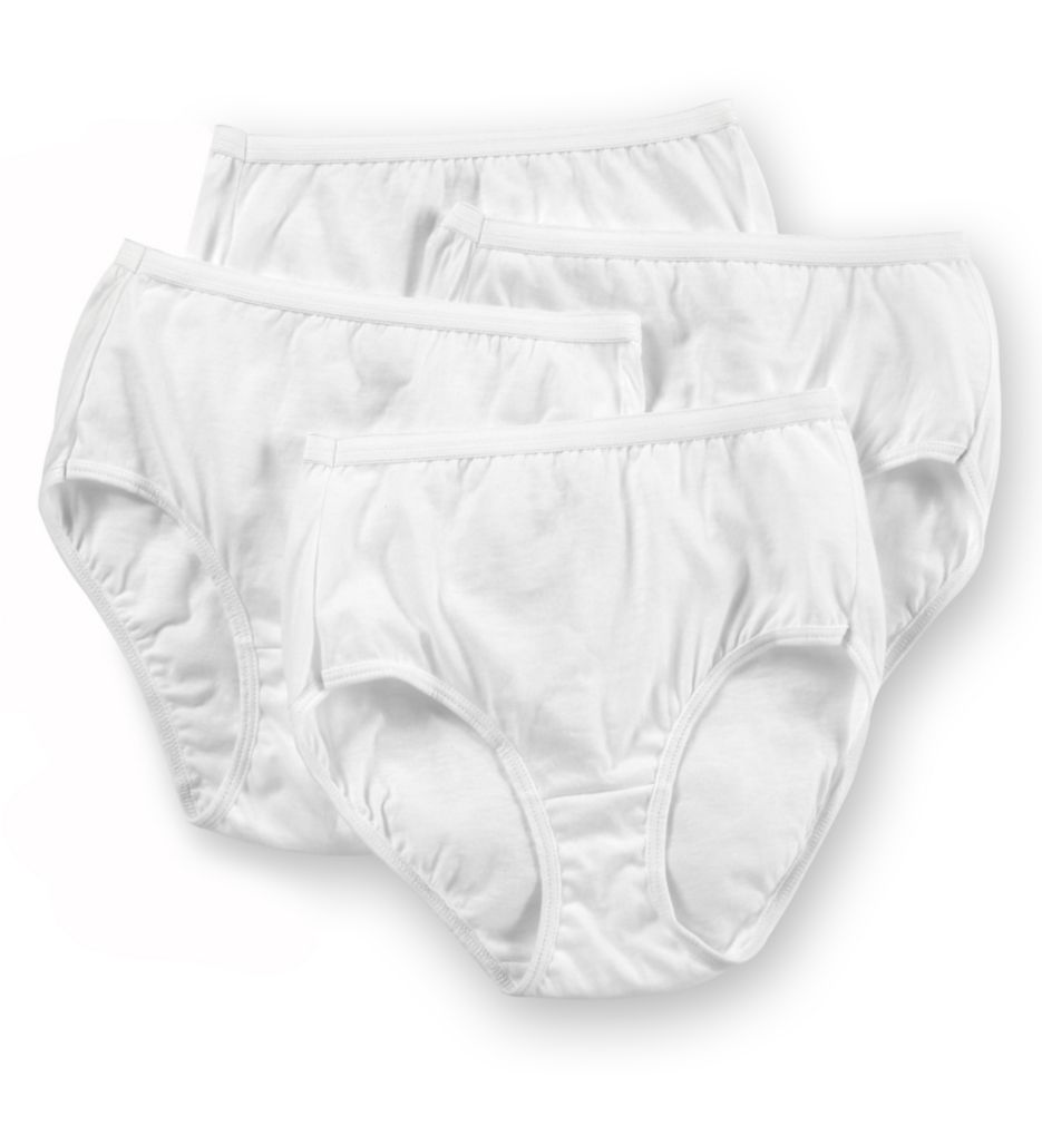 Hanes 100% Cotton Brief Panty - 4 Pack 40KUB1