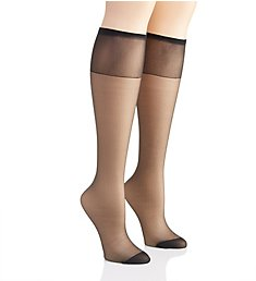 Hanes Silk Reflections Knee High Reinforced Toe - 2 Pack 775