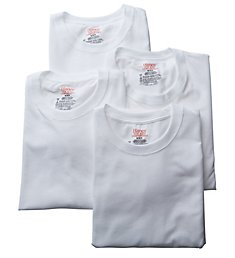 Hanes Stretch Crew T-Shirts - 4 Pack U9T1W4