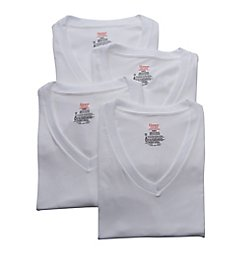 Hanes Stretch V Neck T-Shirts - 4 Pack U9T2W4
