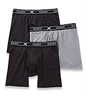 Hanes X-Temp Air Mesh Long Leg Boxer Briefs - 3 Pack UABLB3