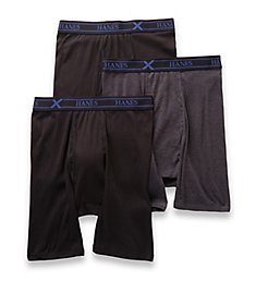 Hanes Ultimate X-Temp Cotton Long Leg Boxer Briefs - 3 UXBLB3