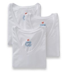 Hanes Ultimate X-Temp  V-Neck T-Shirts - 3 Pack UXT2W3