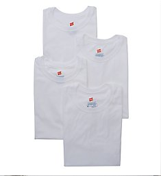Hanes X-TEMP Combed Cotton Crew T-Shirts - 4 Pack YXT1W4