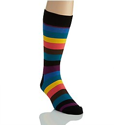 Happy Socks Stripe Combed Cotton Crew Sock STR016003