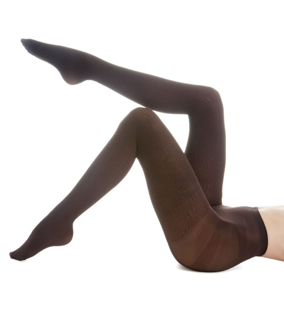 Hue Diamond Texture Tights with Control Top U16757