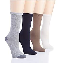 Hue Super Soft Crew Sock - 4 Pack U18442