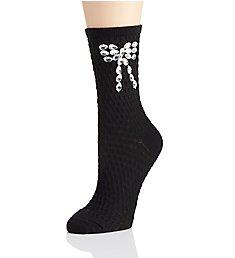 Hue Rhinestone Bow Sock U18530