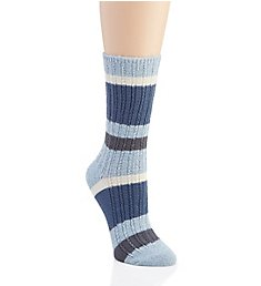Hue Super Soft Ribbed Stripe Boot Sock U19472