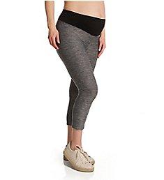 Hue Under Belly Soft Knit Capri Maternity Leggings U21454