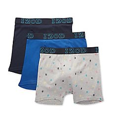Izod Cotton Boxer Briefs - 3 Pack 201VB10